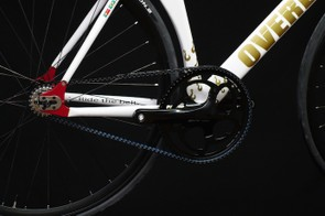 The Gates Carbon Belt Drive is wrapped around a massive 70T chainring