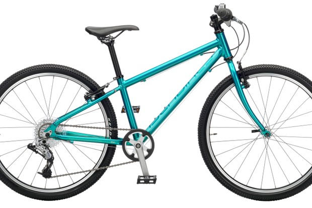The Islabikes Beinn bike in teal