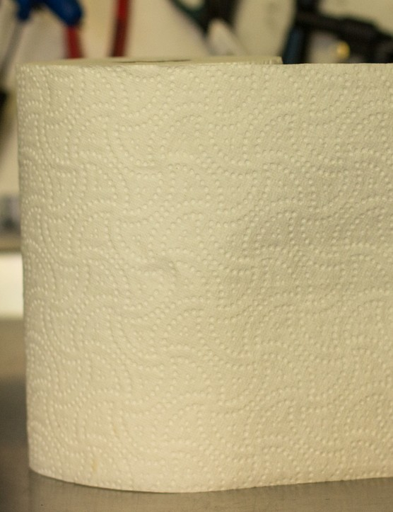 A roll of paper towel makes for a tidy work environment and is better than a dirty rag when cleanliess is crucial