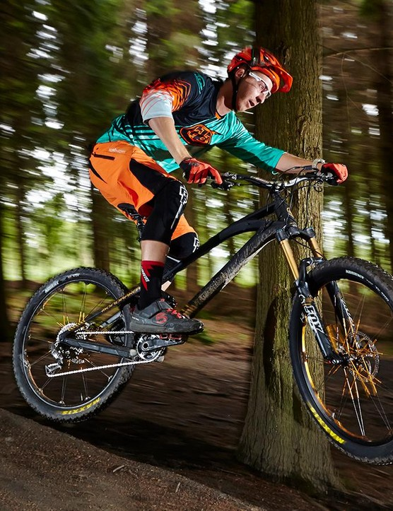 The carbon Foxy is a livewire on the trail