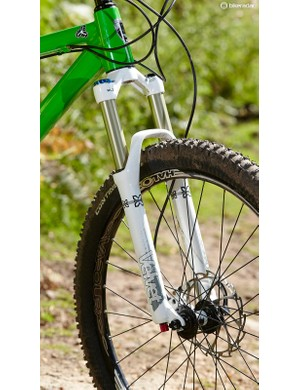 X-Fusion's Velvet fork isa solid 650b performer, but we'ddefinitely recommend upgrading to the 15mm axle version
