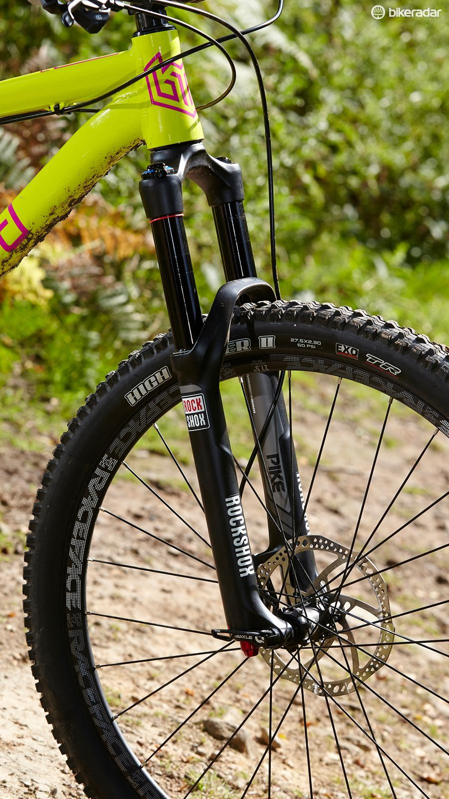 We souped up our machine's business end with a Pike RCT3 fork