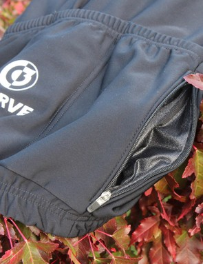 Two side-zip waterproof pockets keep your phone and other valuables safe