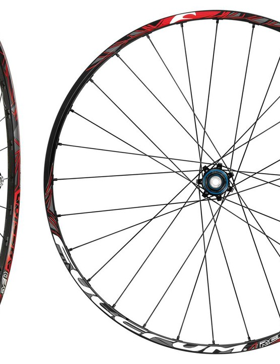 28 double-butted spokes grip the new milled rim design to help improve rigidity