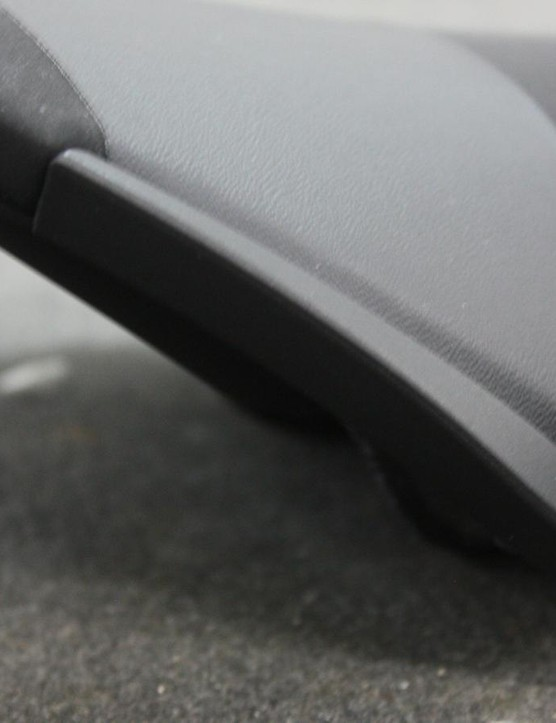 Plastic scuff guards help keep the saddle safe from rough walls