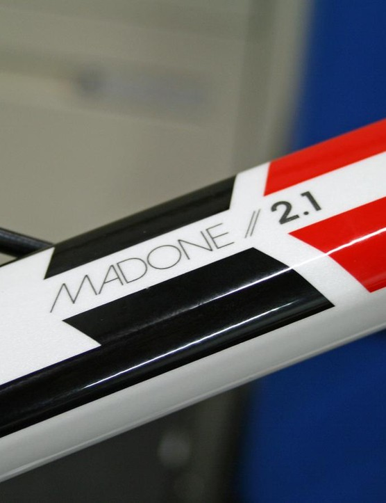 The famous Madone name is featured on the top tube