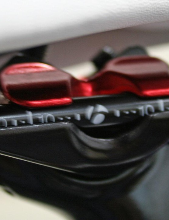 More red detailing on the seat clamp