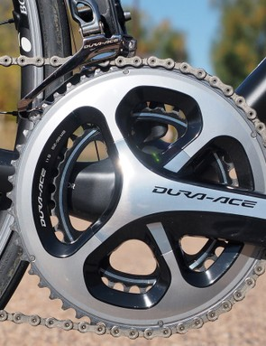 We have no complaints whatsoever with the outstanding Shimano Dura-Ace crankset