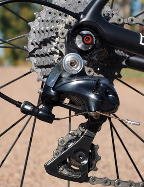The complete Shimano Dura-Ace 9000 group rattles off reliable shifts mile after mile