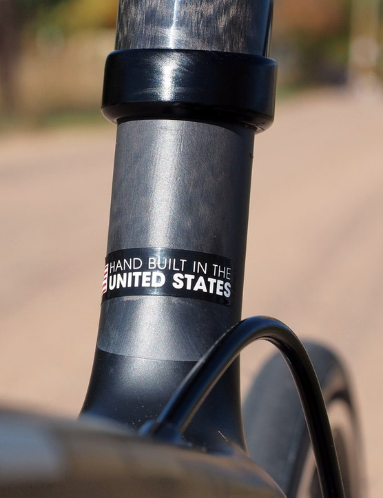 Trek proudly touts the Emonda's country of manufacture - not because frames built in the United States are necessarily better, but because it's quite rare to see these days
