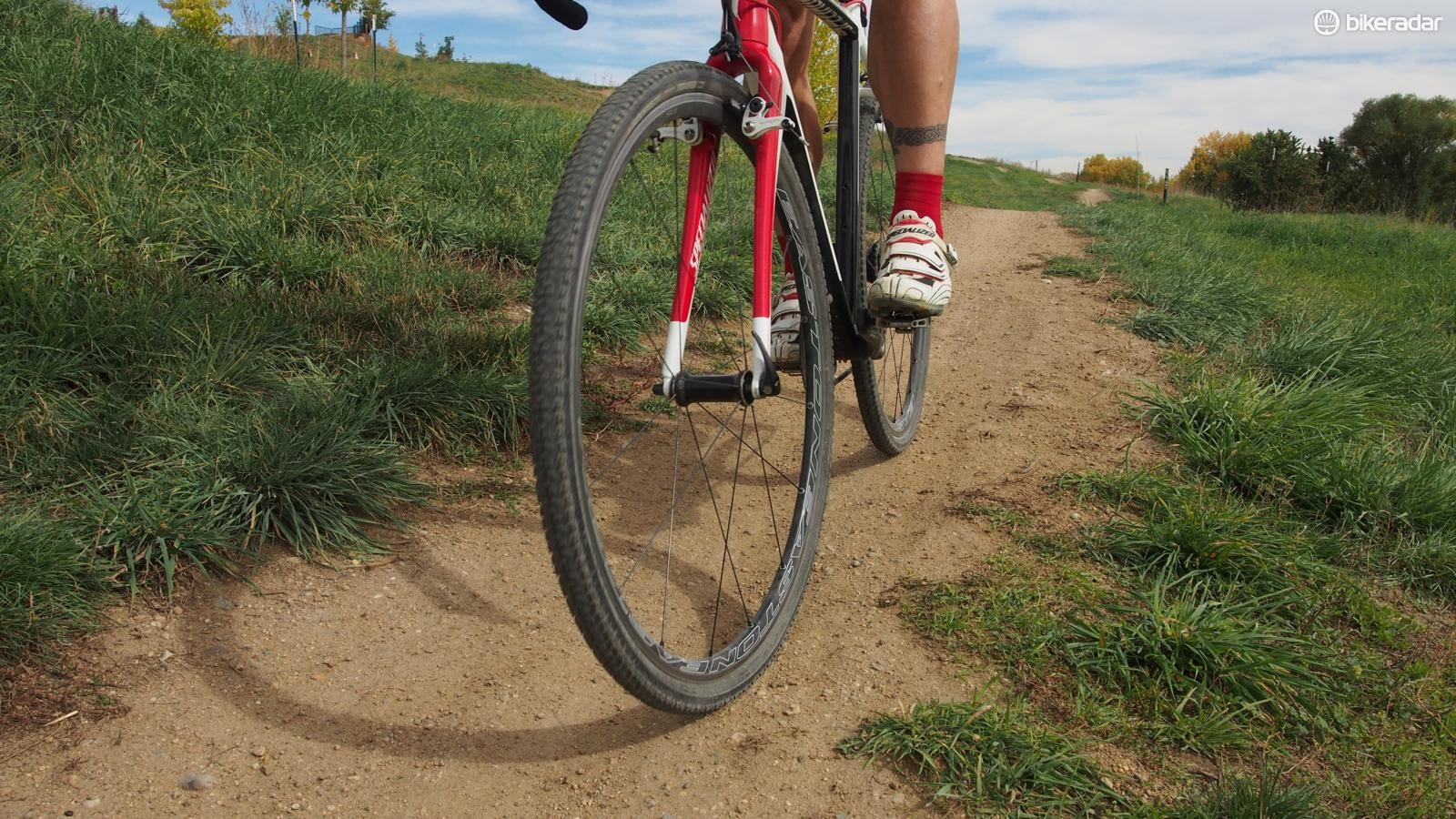 Hutchinson's Piranha 2 CX tubeless tire is a great option for dry, fast courses