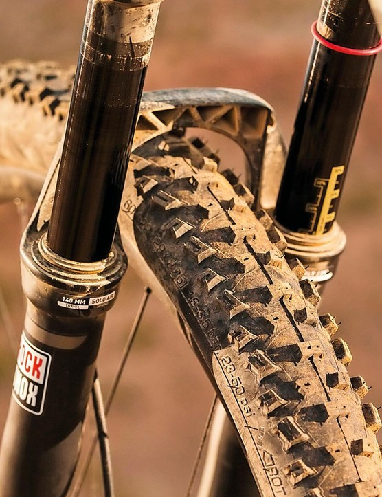 Schwalbe Nobby Nics keep a firm hold on the trail