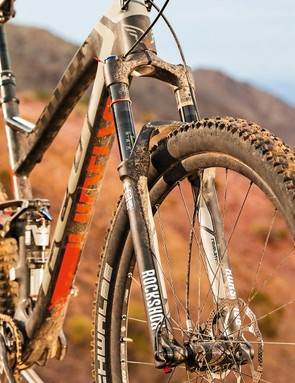 With 29in wheels and 140mm travel, the RockShox Revelation is overstretched