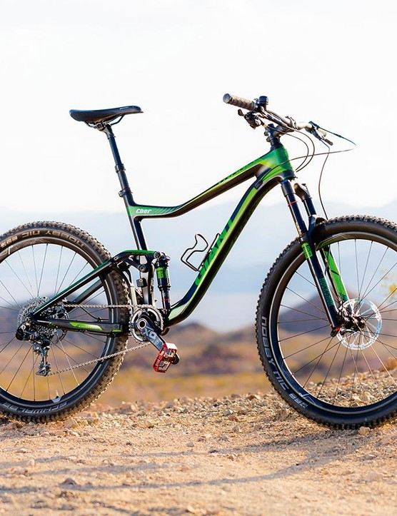 Green machine: carbon front paired to an alloy rear means big value