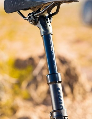 Giant's dropper post may not look high-end, but it gets the job done