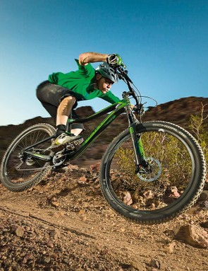 Set and forget suspension, blisteringly fast carbon-rimmed acceleration and a naturally surefooted, slack and long geometry make the Trance one of the best high-speed have-a-go-hero machines around