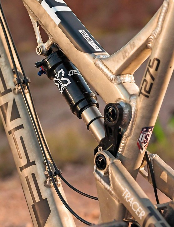...but simplified top tube construction means reduced price and weight