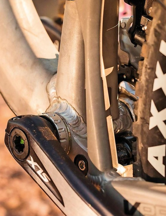VPP suspension means plenty of feedback through the pedals