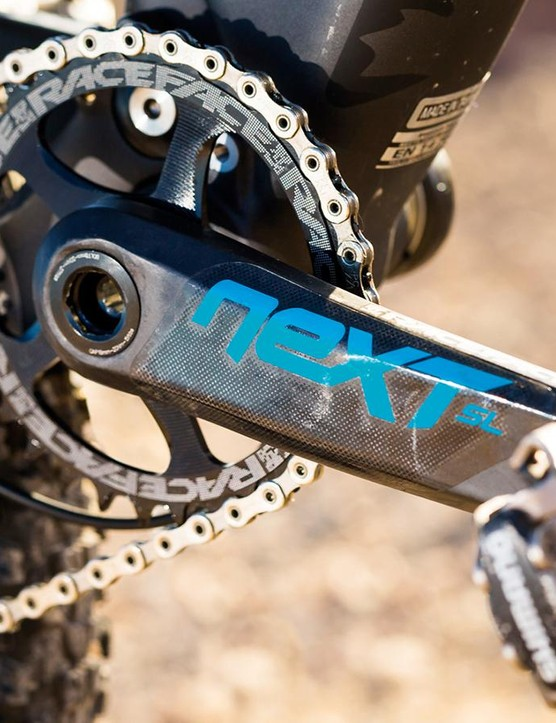 Race Face Next cranks are proving to be firm tough 'n' light favourites