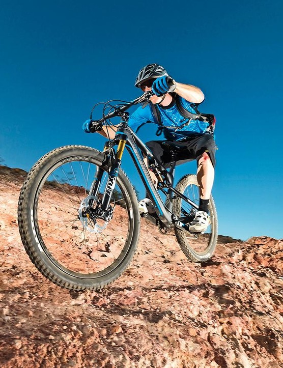 The harder we rode the Rocky, the more our initial hesitance about how much hammer such a light, trail-floating bike could handle was forgotten