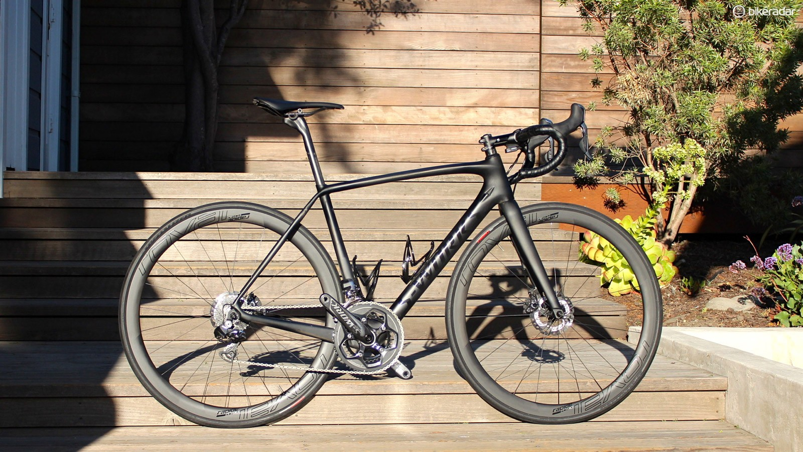 An integrated race bike with disc brakes. But one man's 'integrated' is another man's 'incompatible'