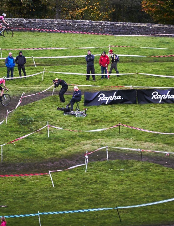 The tricky off-road course is suitable for all ages of 'crossers