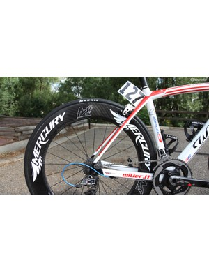 SmartStop races on carbon tubular wheels from Mercury Cycling