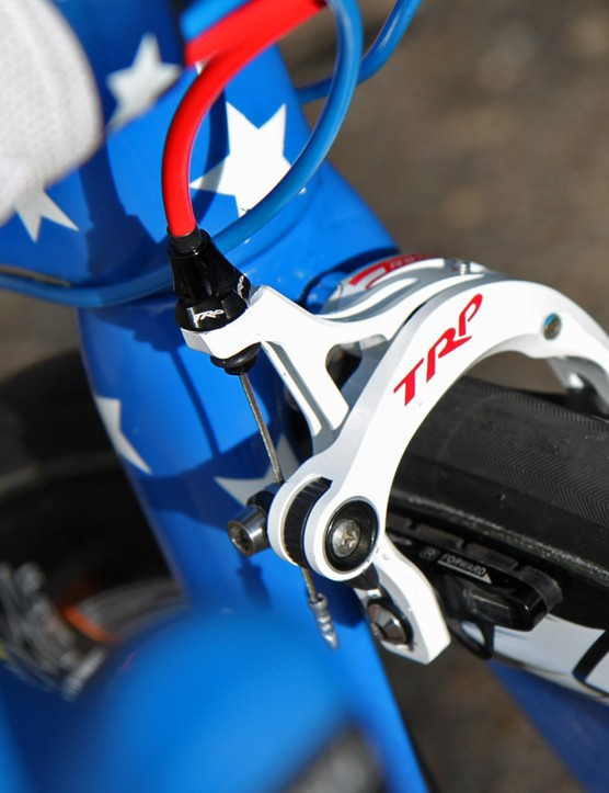 TRP's R970 brake calipers aren't seen very often but they're solid and lightweight