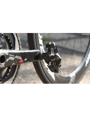 Marcotte puts the power down through a pair of Mavic Zxellium SLR pedals