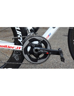 A SRAM Red 22 Quarq power meter records Marcotte's output
