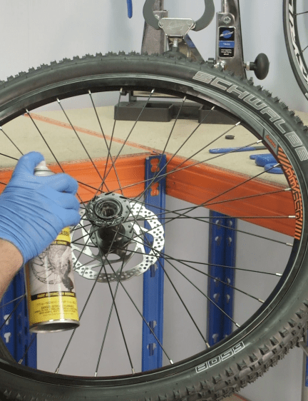Clean the hub with degreaser and paper cloth