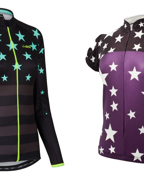 There's been a social media furore over the similarities between Wiggle's DHB design (left) and Glowinski's Ana Nichoola design (right)