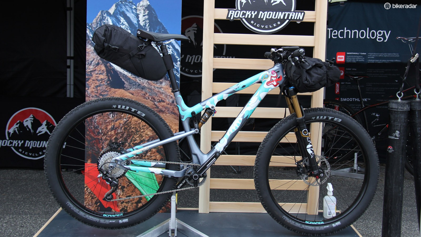 Rocky Mountain created the Sherpa, a prototype 27.5+ adventuring touring rig, for this year's Sea Otter bicycle expo
