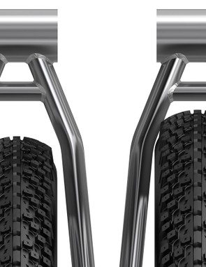 This WTB mock-up shows how 27.5x3in and a 29x3in Trailblazer tires would (or would not) fit in a 29er frame