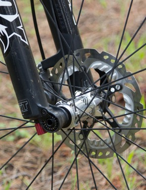Shimano provides its new XTR-level Freeza brake rotors, currently only available in CenterLock mount