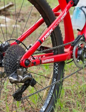 Shimano's new XTR Di2 provides wide-range 11-speed gearing out the back