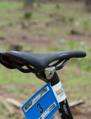 Bontrager's new Montrose Pro carbon saddle sits on top of the XXX seatpost