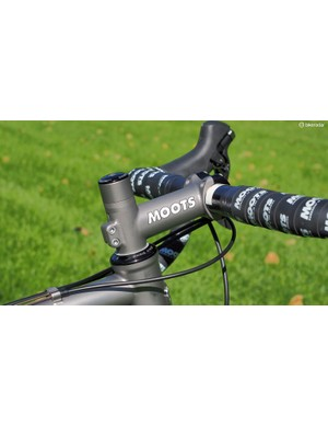 Moots' titanium stem is as timelessly beautiful as it is functional. Cyclocross racers may want to consider a more aggressive angle, though, to offset the relatively long head tube