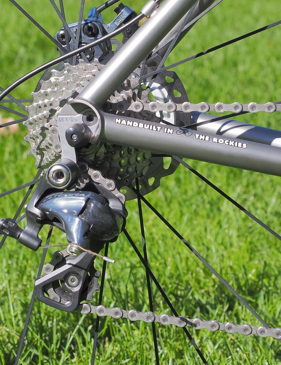 Shift performance from the Shimano drivetrain was silky smooth and consistent (especially after we replaced the rear section of derailleur housing with a more appropriate length)
