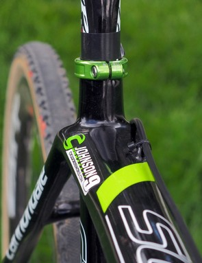 Distinctive seat cluster shaping on the Cannondale SuperX Disc