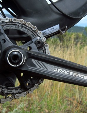 GT fits the Helion Carbon Pro with Race Face's standard Turbine crank, not the newer one with its oversized 30mm aluminum axle. European buyers will also get a 2x drivetrain instead of the 1x setup used elsewhere