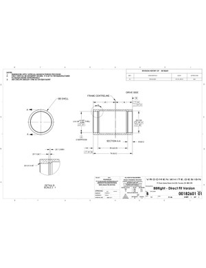 Official prescribed bottom bracket shell dimensions and tolerances for a BBright bottom bracket shell