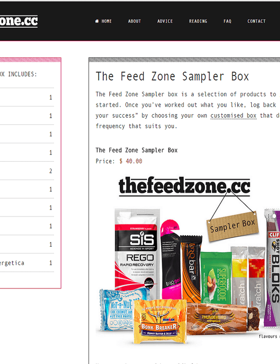 The sampler box has a wide variety of bars, gels and drinks