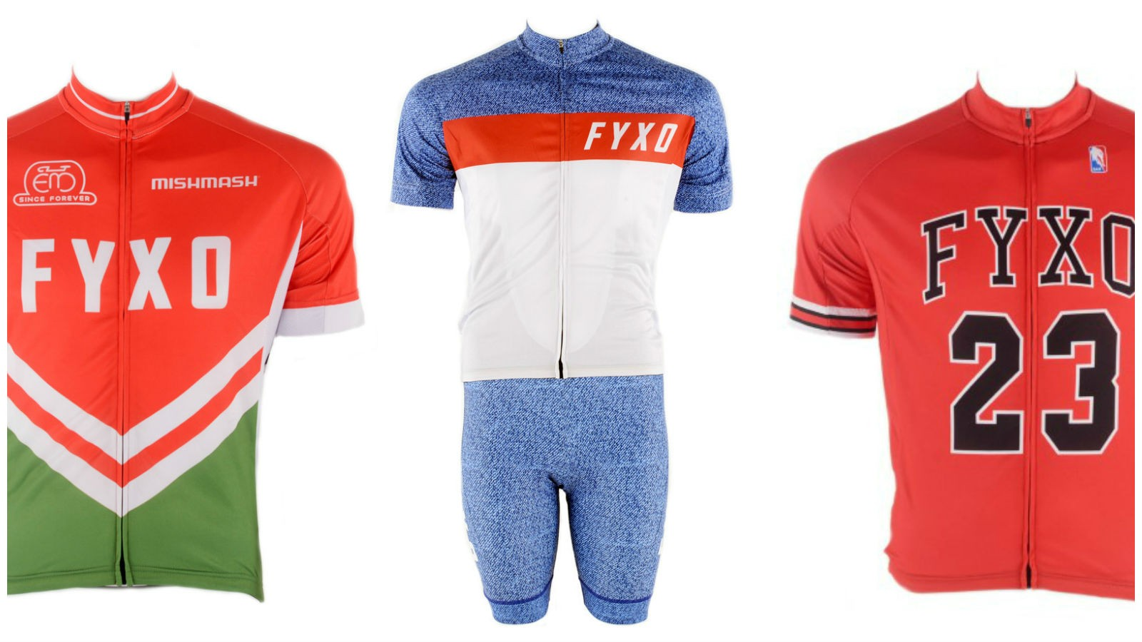 All of Fyxo's cycling kits have that classic styling