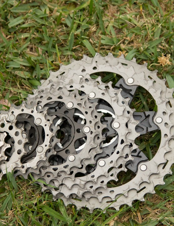 The XTR M9000 groupset gets a new cassette; so far there's only a 11-40t size option