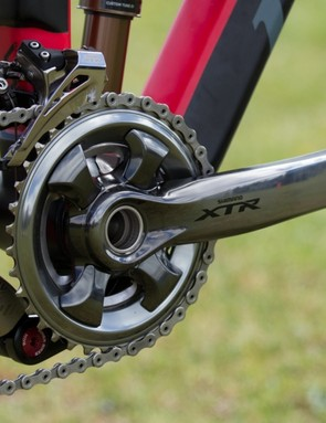 Our original sample groupset included a 26/36t double chainring configuration