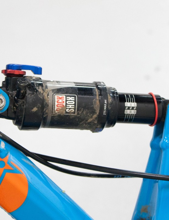 That diddy stroke of the RockShox Monarch shock adds up to 110mm of single pivot suspension action