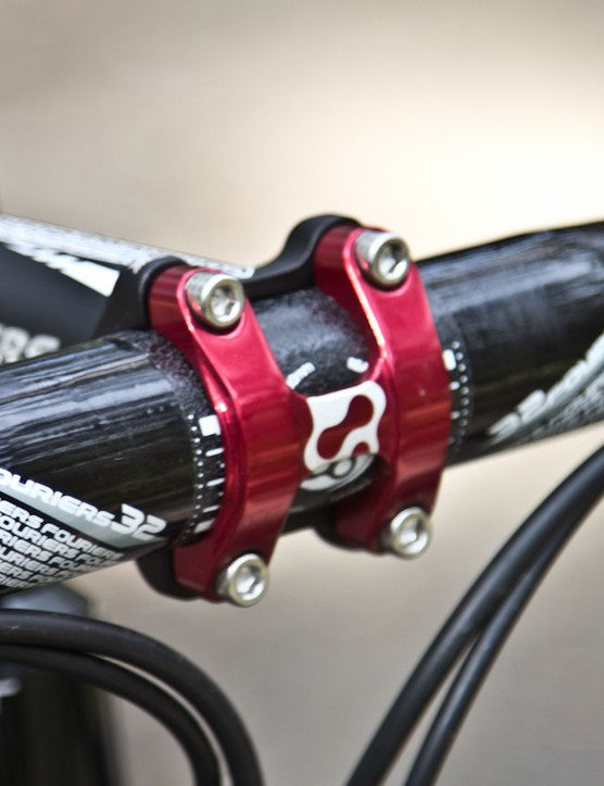 Carbon bars are an odd choice for a bike advertised as a 'more affordable version'