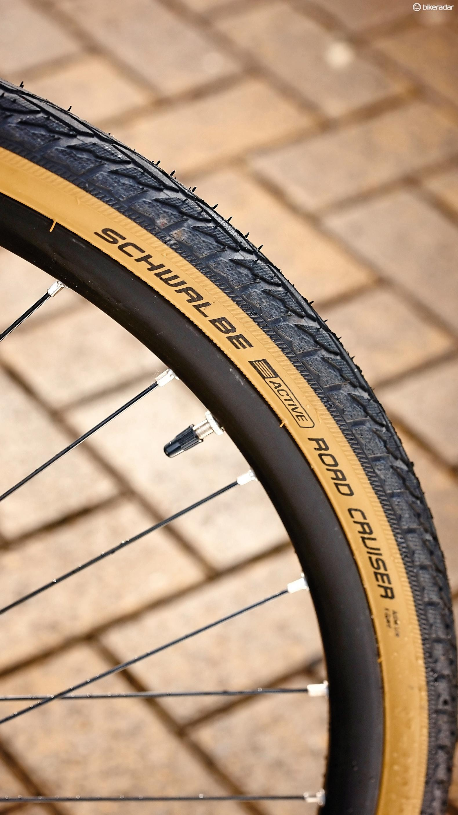 The 35mm tyres are very comfortable but they weigh 625g each