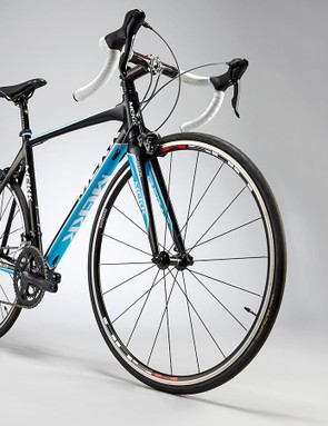 The Pinerolo's geometry puts you in a fairly aggressive riding position
